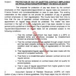 Notification of Protection of pay of Contract Gazetted Employees on Regularization