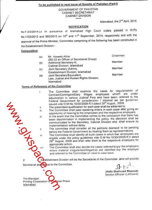 Regularization Contract Employees