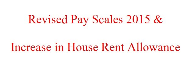 Revised Pay Scales 2015