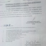 Withdraw of Orders of Appointment as SST (Computer Science) in District Jhang
