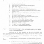 Notification of 4-Tier Service Structure of Allied Health Professionals Punjab