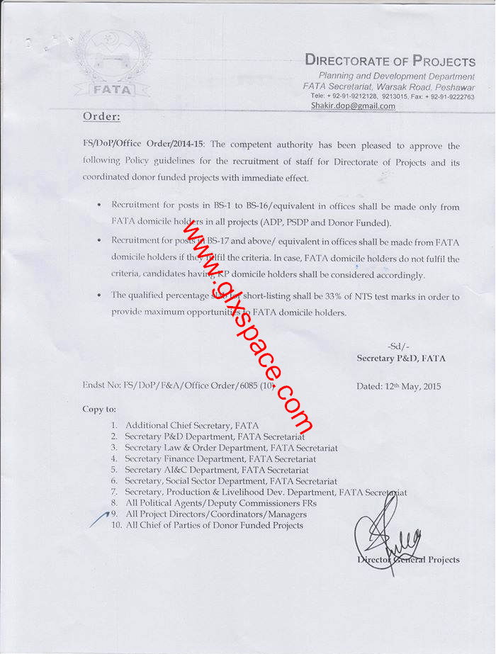 Recruitment Policy FATA