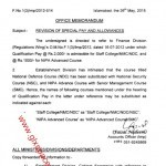 Finance Division has issued Notification regarding Revision of Special Pay & Allowances