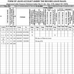 Leave Account Proforma for Govt Employees