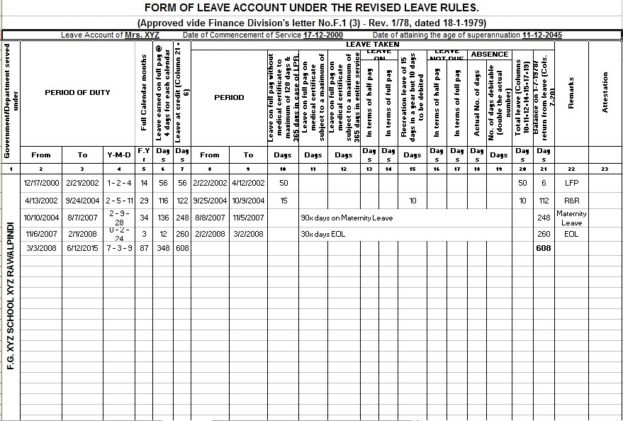 Leave-Account-Proforma- Online Form Government Jobs In Up on types federal, online application for, united states, resume format, application form, public sector, list all,