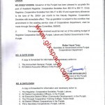 Notification of Upgradation of the Posts of Assistant Registrar/Circle Registrar Cooperative Societies