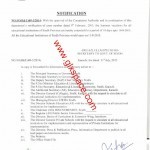 Notification of Extension in Summer Vacation 2015 in Sindh