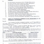 Notification of Increase in Pension and Medical Allowance 2015 by KPK Govt