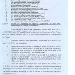 Notification of Increase in Medical Allowance & Pension Punjab Government