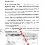 Notification of Protection of Contract Employees under Contract Policy 2004