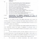 Notification of Restoration of Pension by KPK