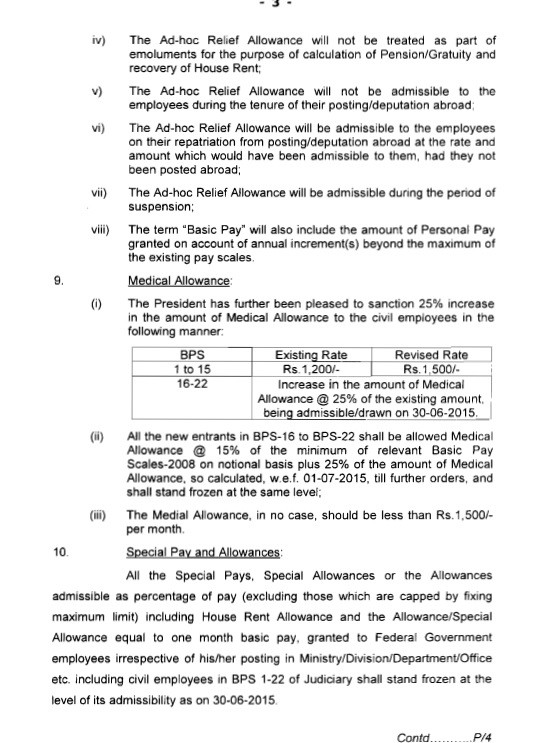 Revised Pay Scales 2015 Notification 2