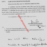 Release of Salary of Newly Recruited Educators 2015-Orders by EDO Edu Mianwali