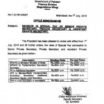 Revision in Special Pay of Senior Private Secretary/Private Secretary & Assistant Private Secretary