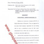 Upgradation/Promotion of Lab Assistants-Decision of the IHC