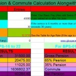 Revised Pension & Commute Calculation Sheet 2015