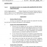 Notification of Revision of Basic Pay Scales 2015 for TEVTA Employees