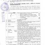 Notification of College Teachers Interns-Salary 30000/- Per Month