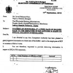Notification of Payment of Rs. 10000/- as Honorarium to Each Employee of ECP on Eid-ul-Azha