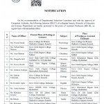 Promotion of Lecturers to Assistant Professors in Sindh Education Department