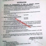 Notification of Enhancement of Rates of Maternity Charges, Marriage Grant and Medical Re-Imbursement by NTDCL