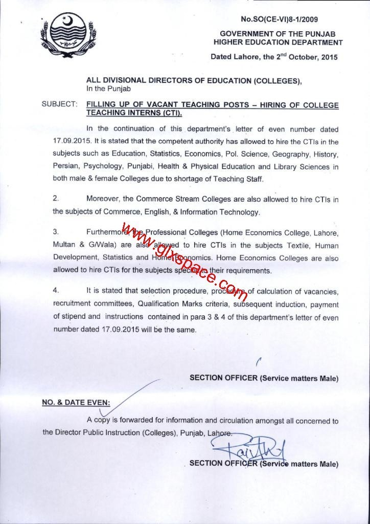 Recruitment of CTIs Additional Subjects