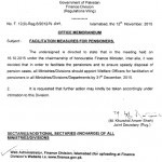 Notification of Facilitation Measures for Pensioners