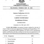 Recruitment Rules of Private Secretary, Superintendent, Stenographer/APS issued in 2012