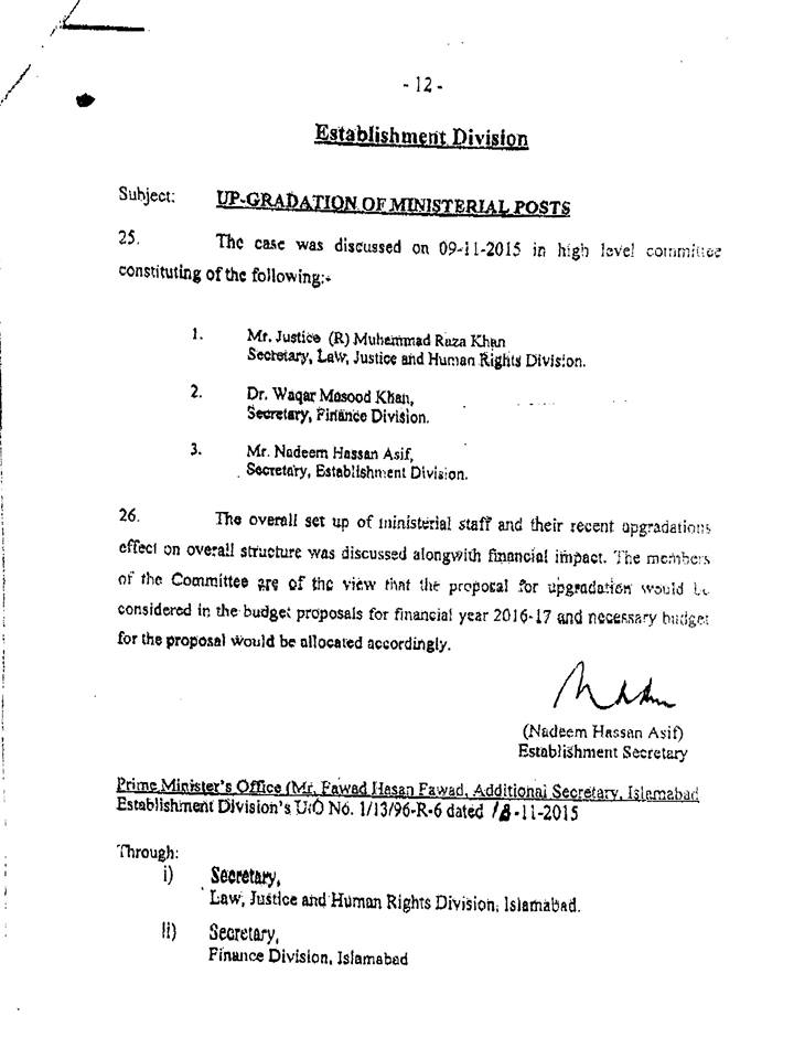 Upgradation Clerical Staff FG
