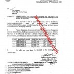 Notification of Enhancement of Utility Allowance to the Staff of Sindh High Court