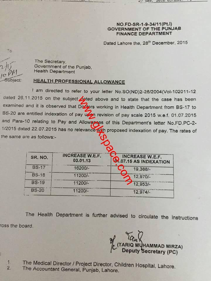 Health Professional Allowance