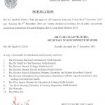 Notification of Holiday Due to Local Govt Election 2015 (Karachi Region)