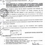 Regularization of Contract Employees (Ministerial Cadre)