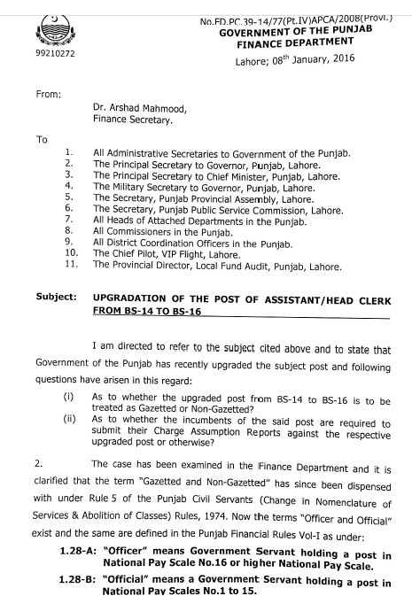 Clarification Assistant Gazetted