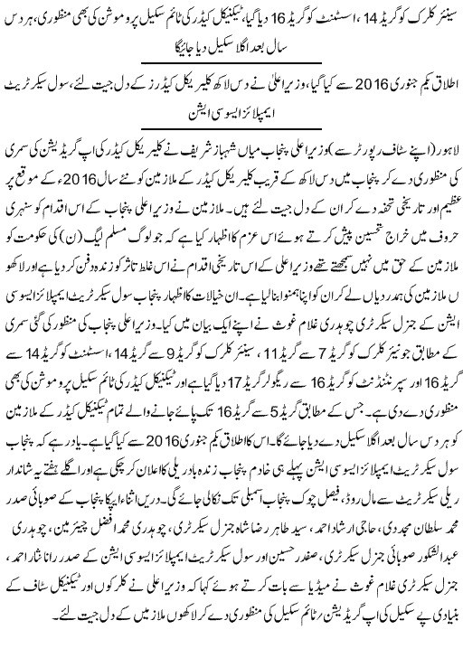 Clerical Staff Upgradation Punjab