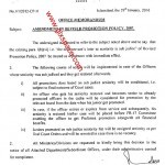 Notification of Amendment in Revised Promotion Policy 2007
