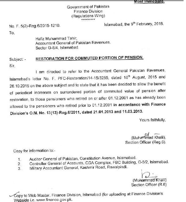 Surrender Portion of Pension