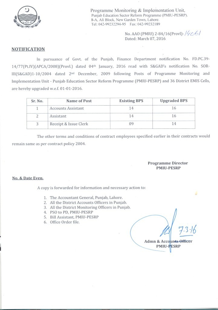 Upgradation of Accounts Assistant