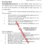 Health Professional Allowance to Paramedics and Nursing Staff of KPK