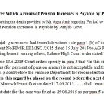 Period over Which Arrears of Pension Increases is Payable by Punjab Govt