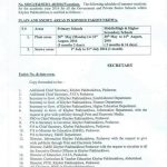 Notification of Summer Vacation 2016 in KPK Schools