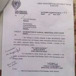 Letter Regarding Upgradation of Clerical/Ministerial Staff Sindh