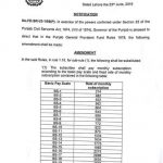 Notification of Revised Rates of GP Fund for Punjab Govt Employees
