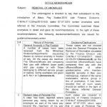 Notification of Removal of Anomalies by Finance Division