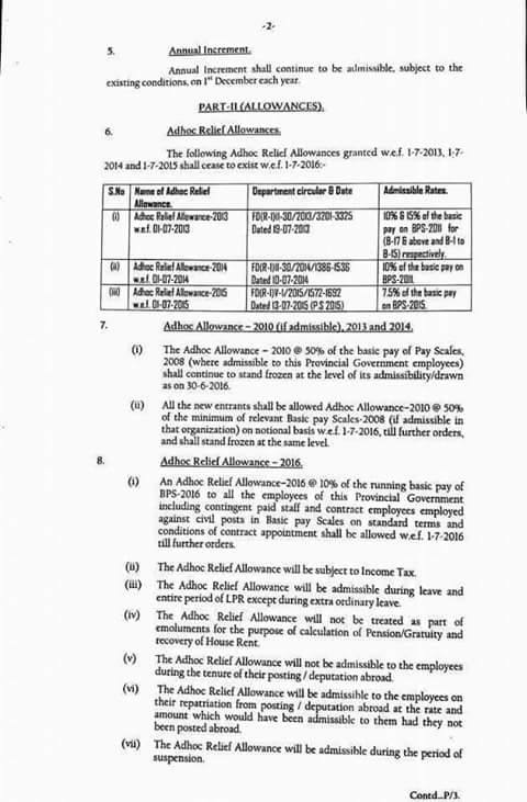 REVISION OF BASIC PAY SCALES & ALLOWANCES OF CIVIL SERVANTS OF BALOCHISTAN GOVERNMENT (2016)2