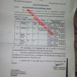 Notification of Upgradation of Clerical Staff Federal Govt