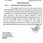 Establishment Division Letter Regarding Upgradation of Ministerial Staff