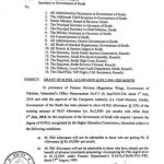 M.Phil Allowance Notification Sindh Govt 2016