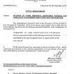 Notification Five Years Contract Appointment under Assistance Package