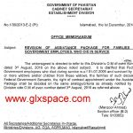 Assistance Package Revision Notification by Establishment Division